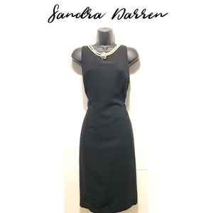 Sandra Darren Shift Dress with attached Pearls